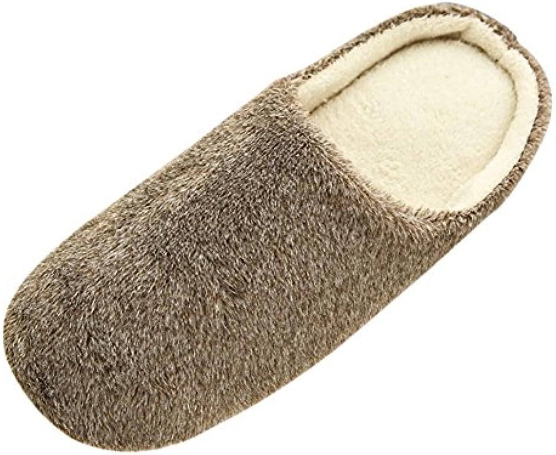 88290b5d44e042 saguaro femmes hommes hiver chaud des pantoufles antidérapantes pantoufle  de de de coton rembourrés intérieur fausse fourrure chaussures pour le ...