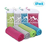 Awroutdoor Gym Ice Cooling Towel, 4 PCS Ice Sports Cool Cold Towel Quick