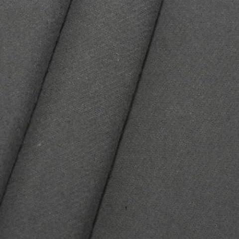 Tissus de scène en molleton B1 / M1 largeur 300cm, couleur: Anthracite