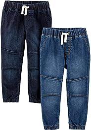 Simple Joys by Carter's Pantaloni in Denim da Tirare Bambino, Pacco