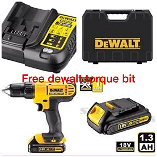 DEWALT-18V-CORDLESS-LITHIUM-LXT-COMBI-DRILLDRILL-DRIVER-WITH-HAMMER-ACTION-FACILITY-COMPLETE-WITH-LITHIUM-BATTERYFAST-CHARGERHEAVY-DUTY-CARRYING-CASE