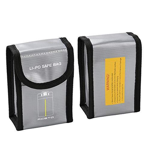 Amuse-MIUMIU Akku Schutzhülle für DJI Mavic Mini Batterie, Tragbare Schachtel Safe Bag Explosionsgeschützt Brandschutz Strahlenschutz Akku Schutzhülle für DJI Mavic Mini Batterie (Grau)