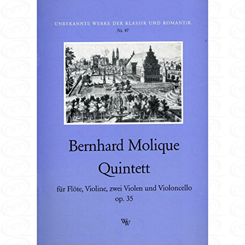 QUINTETT OP 35 - arrangiert für Querflöte - Violine - zwei Violen - Violoncello [Noten/Sheetmusic] Komponist : MOLIQUE WILHELM BERNHARD