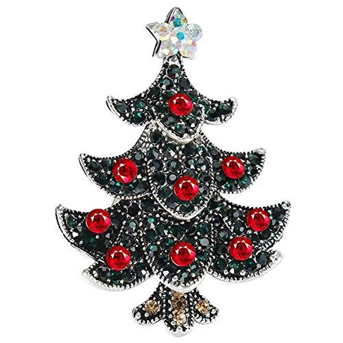 hnachts Brosche Mode Farbige Weihnachtsbaum Form Herren Broschen Mantel Hemd Deko Brosche Schmuck Zubehör Weihnachts Brooch (Womens Weihnachtsbaum Kostüme)