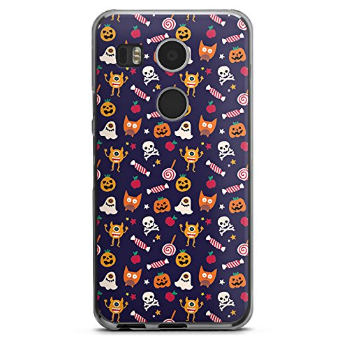 Halloween Google Kürbisse (Google Nexus 5X Hülle Case Handyhülle Geist Kürbis Halloween)