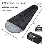 ACTIVE FOREVER Mountaineers Outdoor Sleeping Bag with Compression Sack, Lightweight Waterproof for Warm Cold Weather 4… 12