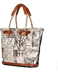 Attractive Pring Canvas Tote Shoulder Bag Stylish Shopping Casual Bag Foldaway Travel Bag
