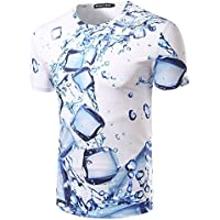 Manga corta camiseta _ personalidad de la Gota de Agua de impresión 3D de Hombres camiseta de manga corta,XXL