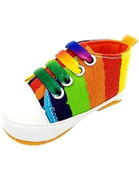 Babyschuhe Longra Baby Mädchen Jungen Schuhe Sneaker rutschfest weiche Sohle Kleinkind lauflernschuhe krabbelschuhe...