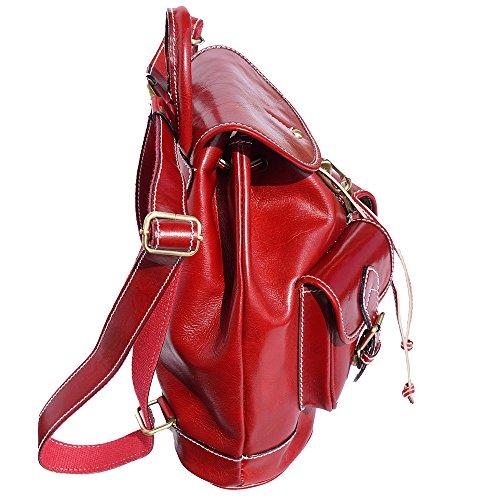 Rucksackbeutel mit zwei großen Außentaschen 6554 Rot