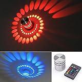 AGM 3 W LED Wandleuchte Gipslampe Wandlampe Mit IR Fernbedienung Alu. Flurlampe Fluter Decken (RGB)