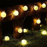 CMYK® 30er LED Solar Globe Garten Lichterkette Außen Warmweiß 6 Meter