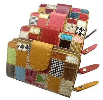 Idée cadeau pour femme! Portefeuille / porte-monnaie de luxe. Fabriqué avec du cuir italien de haute qualité. Fabriqué en Espagne. Portefeuille pour femme avec zip