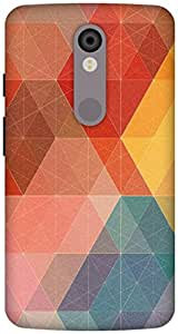 The Racoon Lean Geometric Design with Colors hard plastic printed back case / cover for Motorola Moto X Force