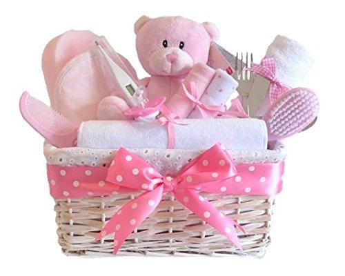 Angelo Deluxe Baby Girl Cesto/Regalo/regalo-Cestino di vimini bianco/baby shower Regalo/nuovo arrivo regalo/Ricordi per bambino/spedizione veloce