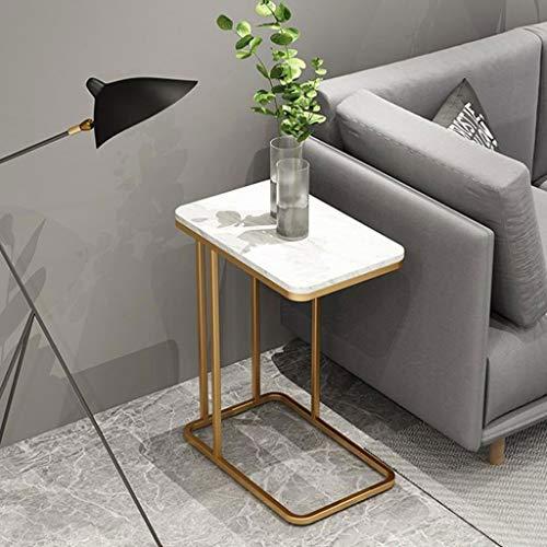 M-JH Table d'appoint, Table de Trolly côté/café/Snack/Stockage canapé Table pour la Maison, Salon, Bureau, 50 * 30 * 58 cm (Couleur : D)