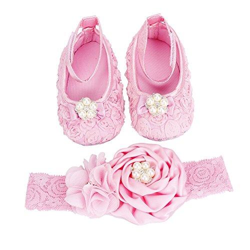 FEITONG Conjunto para bebé de zapatos y cinta para el pelo, set para