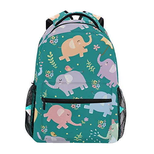 Mochila Escolar de Elefantes para Mochila de Viaje para niños niñas niños...