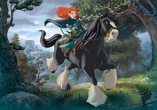 Fototapete Disney Merida - Legende der Highlands Vlies-Tapete für Kinder-Zimmer Wandbild Mädchen (104 x 70,5cm - - Mädchen, Disney Tapete, Kinder,