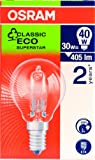 Osram Halogen-Energiesparlampe, 28 W, Globe BC / B22d, Classic P, klar