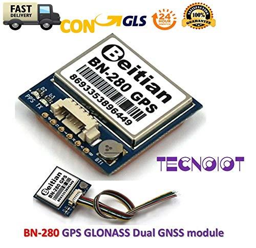 TECNOIOT BN-280 BN280 GPS Dual Module Compass GLONASS with Antenna Flash Beitian UART TTL Gps-antenne Kit