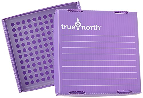 Heathrow Scientific HD120382 True North Flatpack Freezer Boxen, Polypropylene, 144 Stellplätze, 0.2 mL, Purpur (10-er Pack)