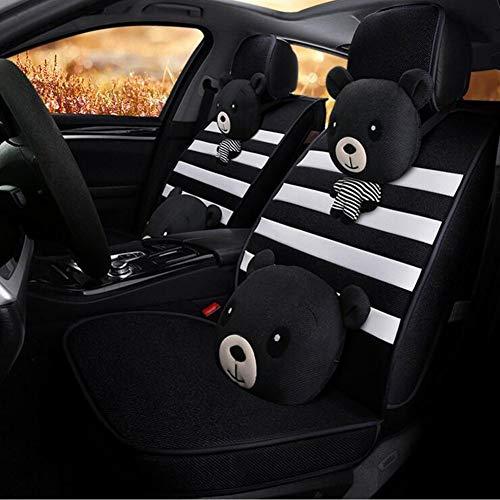 Autositzschutz Diamantformgitter Mikrofaser Lederlenkradabdeckung Universal Autositz-Auflage
