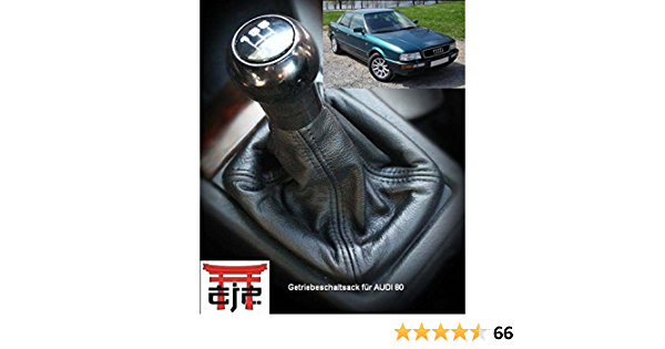 Maßgefertigter Schaltsack Schwarz Schaltmanschette Aus Echtleder Erstausrüsterqualität Auto