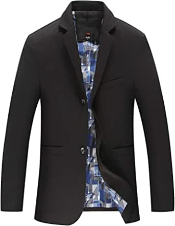 Allthemen Mens Casual Blazer Long Sleeve Jacket 2-Button Casual Suits Single Breasted Blazer Jackets