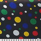 Karneval-Satin-Druck, gemustert, mehrfarbig, 150 cm breit,