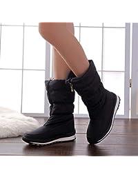 YIRUIYA - Escarpines de Material Sintético para mujer, color negro, talla 38 EU