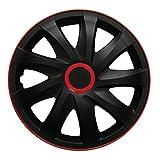 (Farbe & Größe wählbar) 16 Zoll Radkappen, Radzierblenden Draco RACE (Rot) passend für fast alle Fahrzeugtypen (universal)