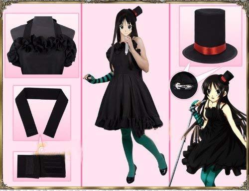 Sunkee K-ON Cosplay Akiyama Mio Kostüm, Größe L( -
