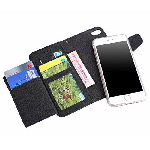 iPhone 6/6s (4.7) Custodia Cover, EUWLY Portafoglio Custodia Premium PU Leahter Protettiva Cover Case Per iPhone 6/6s (4.7), Goffratura Fiore Farfalla Modello PU Pelle Custodia Caso Libro Flip Walle Nero