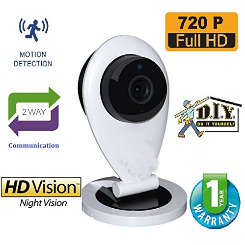 Dr. Camera Plug and Play Wireless Wifi IP Security CCTV Video Surveillance System Camera HD 720P Night Vision with 2 way Audio & Support upto 64 GB SD card