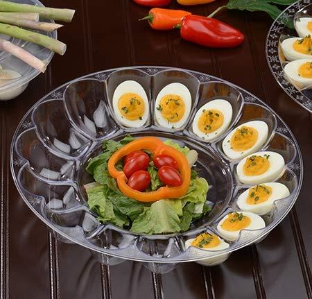 Eierschalen aus Hartplastik, Würfelform, für je 15 Eier, 30 cm, 2 Stück Devilled Egg Tray