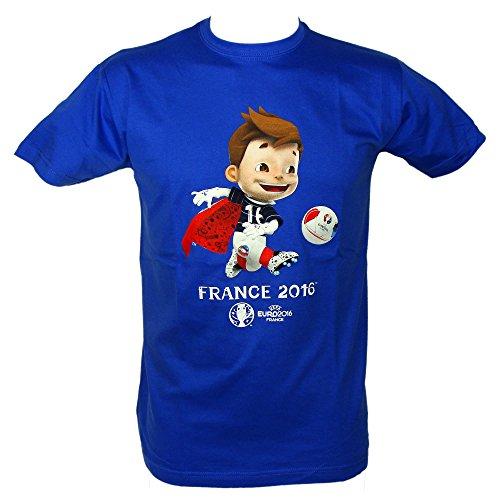 UEFA - T- Shirt 'Mascotte' EURO 2016 Officiel Enfant - Bleu