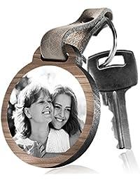 """schenkYOU Schlüsselanhänger aus Holz """"Mein Leben ist vielleicht kein Märchen, aber meine Tochter ist meine Prinzessin"""" mit rückseitiger Fotogravur"""