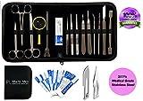 Matis Dissection Kit - Outils en acier inoxydable pour les étudiants en biologie / anatomie et vétérinaire. 26 Pcs avec étui