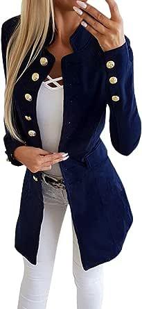 Tomwell Donna Elegante Blazer Manica Lunga Moda Tinta Unita Slim Fit OL Giacca con Pulsante Casual Ufficio Business Lavoro Giacca Cappotto Corto Capispalla Tops