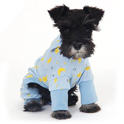 Hunde Jumpsuit Schlafanzug für große kleine Hunde Shirt Bekleidung Sommer (XL, Blau)