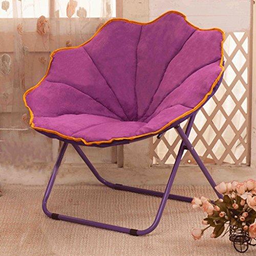 Lila Einzelbett (Edge to Loon Stuhl Moon Stuhl Sun Stuhl Lazy Stuhl Klappstuhl Rückenlehne Stuhl Freizeit Sofa Stuhl Recliner Radar Stuhl Nap ( Farbe : Lila ))