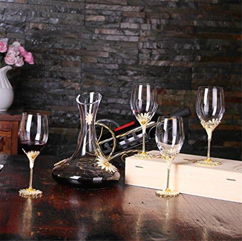 Dekanter Set 100% Mundgeblasen Bleifrei Kristallglas Rotwein Karaffe Wein Saft Geschenke Wein Brandy...