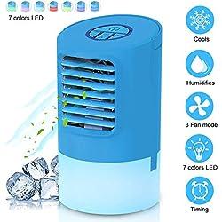 EEIEER Mini Climatizador Portatil, 4 en1 Ventilador Aire Acondicionado Frio