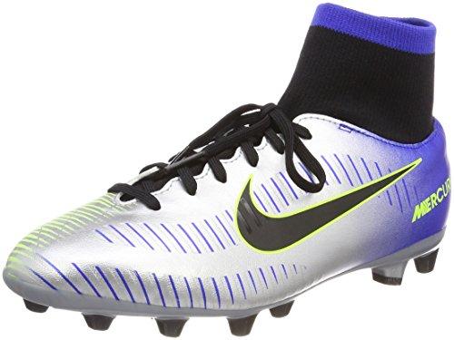 Nike Jr Mercurial Vctry6 DF NJR Agp, Zapatillas de Fútbol Unisex Niños, Azul (Racer Blue Black Chrome Volt 407), 38 EU