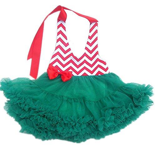 Rüschen Rosette (Byjia Säugling Baby Rosette Mädchen Prinzessin Tutu Kleid Welle Linie Rüsche Tanzen Kleid Outfit Blume Rock A XL)