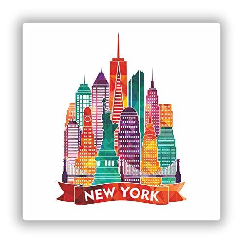 Preisvergleich Produktbild 2 x New York City NYC Vinyl Aufkleber Reise Gepäck 7762 - 15cm / 150mm Wide