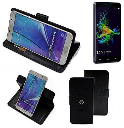 K-S-Trade® Case Schutz Hülle für Allview P8 Energy Mini Handyhülle Flipcase Smartphone Cover Handy Schutz Tasche Bookstyle Walletcase schwarz (1x)