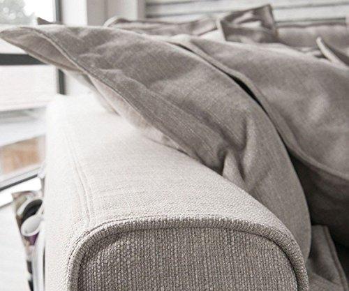 Big Sofa Noelia Elfenbeinfarben 240x145 cm mit Kissen Hussensofa - 4