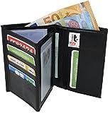 MAMJACK® - Portefeuille En Cuir Synthétique Homme Porte Carte Crédit Visite Monnaie Neuf noir - Portefeuille homme cadeau parfait pour Noël. une fête. un anniversaire